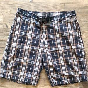 Men's Burnside Checkered Brown Shorts